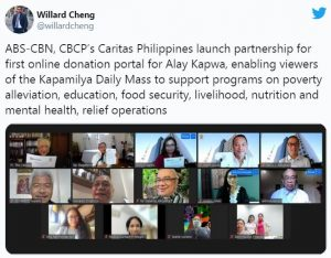 ABS CBN launch Online Donation Portal